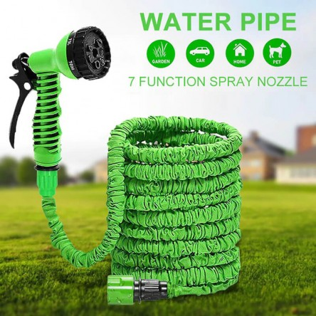 50 Feet Magic Hose Pipe, Multifunctional Expandable Garden Hose Garden Water Magic Hose Spray Gun Telescopic Water Pipe High Pressure Car Wash Gun 7 Way Sprayer