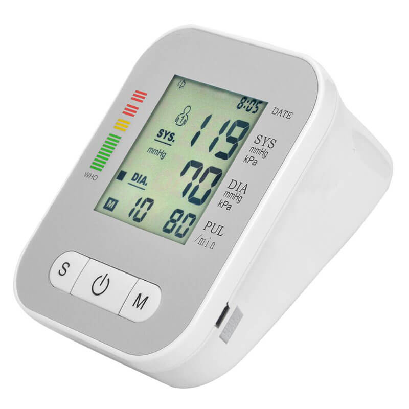 Digital LCD Upper Arm Blood Pressure Monitor Medical Equipment Heart Beat Meter Machine Adjustable Wrist Cuffs for Health Monitoring