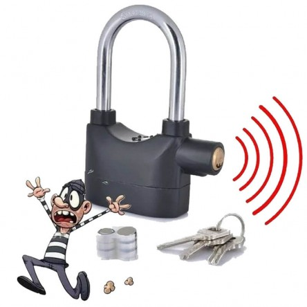 Waterproof Siren Alarm Padlock Alarm Lock for Motorcycle Bike Bicycle Perfect Security with 110dB Alarm Pad locks
