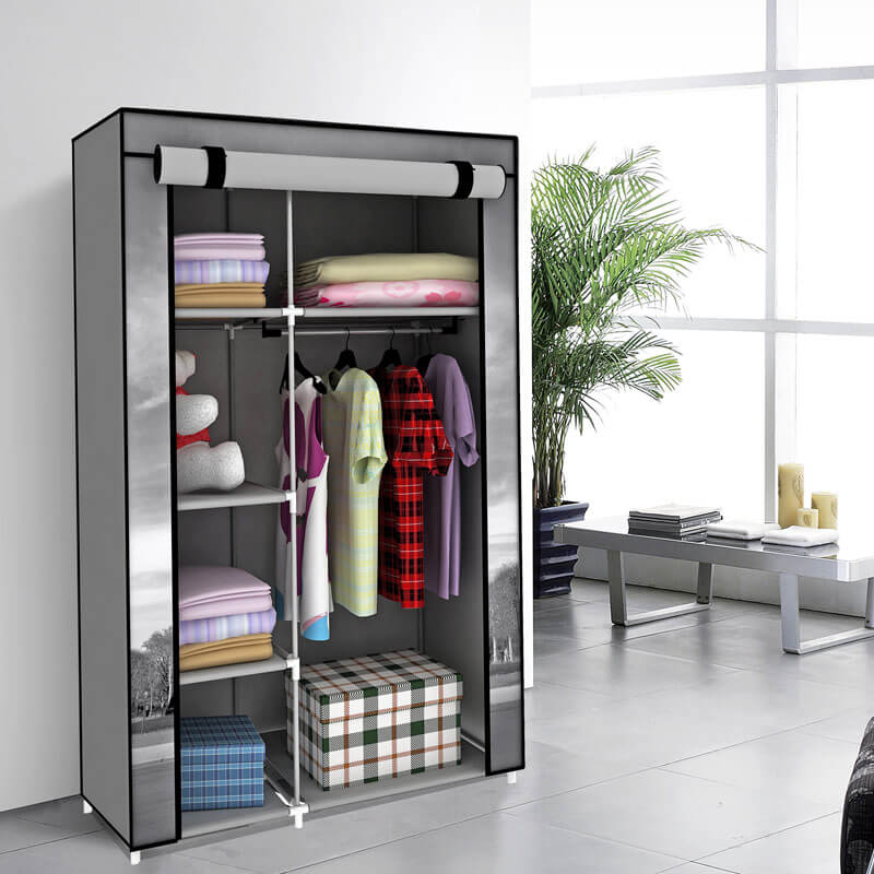 Wardrobe Cloth Storage Organizer, Portable Folding Fabric Wardrobe