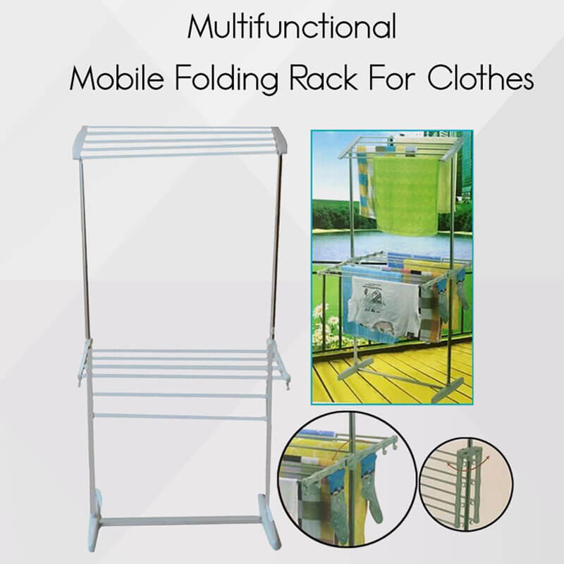 Multi Functional Mobile Folding Racks Cloth Drying Rack