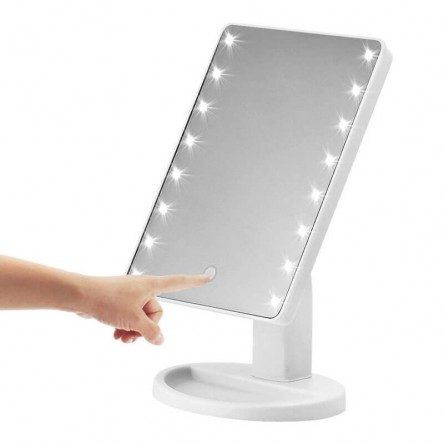 Professional Adjustable LED Lighted Vanity Makeup Mirror, Touch Screen Mirrors For Beauty Makeup Eyelash Brush