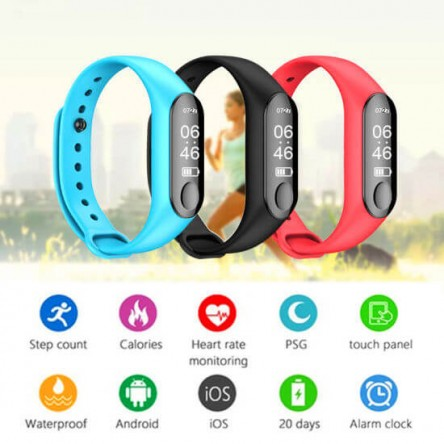 M3 Smart Fitness Wristband Bracelet / Fitness Tracker Heart Rate Monitor Smart Reminder for iPhone, Android phones