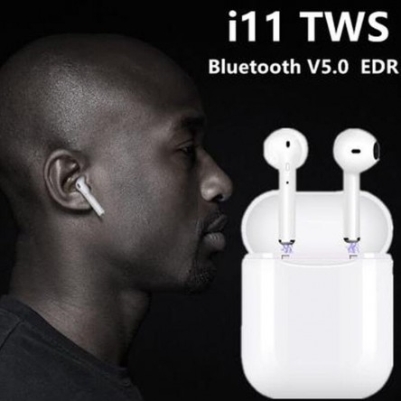TWS I11 Wireless Bluetooth Headset with Charging Box Sports Running Ear Plugs Hanging Ears Wearing Earphones