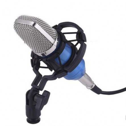 BM100 High Performance Condenser Microphone For YouTube Studio Radio Broadcasting Singing Recording With Shock Mount Kit