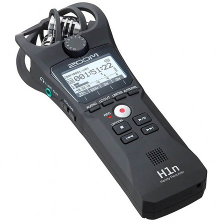 ZOOM H1n Crystal Clear Digital Audio voice Recorder, Stereo Microphone for Recording Interview
