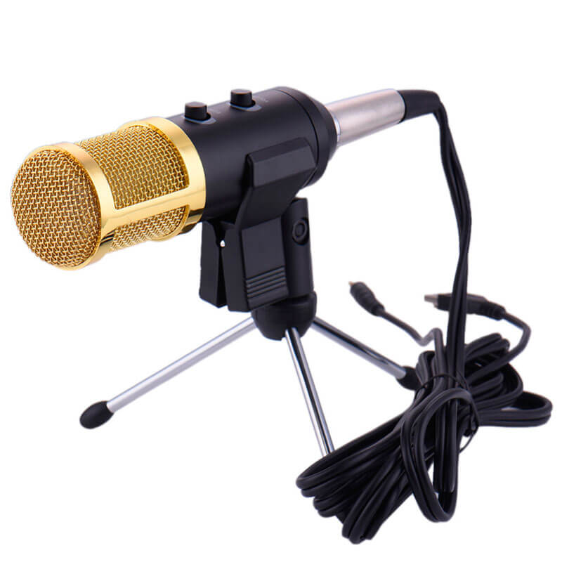 BM100FX High Performance Condenser Microphone For YouTube Studio, Radio Braodcasting, Singing Recording With Mini Tripod, Pop filter & Studio Microphone Stand