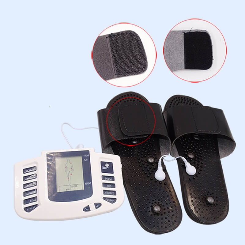 Electric Pulse Massager, Stimulator Full Body Relax Muscle Massager, Acupuncture Therapy Machine with Slippers & Electrode Pads